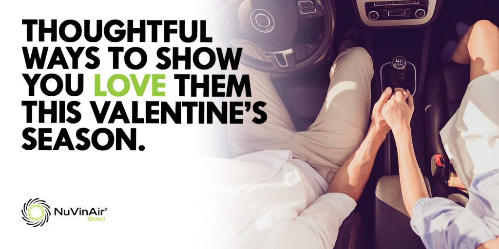 Thoughtful Ways to Show You Love Them This Valentine's Season. Image of a man and woman holding hands in a car.